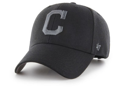 Cleveland Indians '47 MLB '47 MVP Black and Charcoal Cap