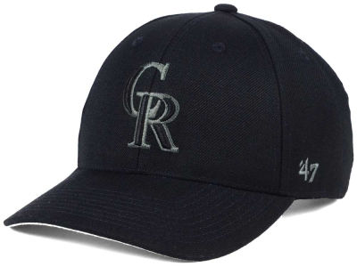 Colorado Rockies '47 MLB '47 MVP Black and Charcoal Cap