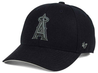 Los Angeles Angels '47 MLB '47 MVP Black and Charcoal Cap