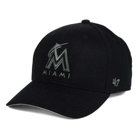Miami Marlins '47 MLB '47 MVP Black And Charcoal Cap