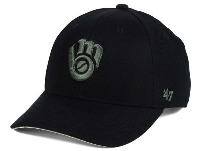 Milwaukee Brewers '47 MLB '47 MVP Black and Charcoal Cap