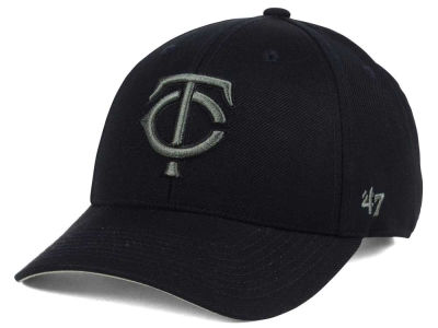 Minnesota Twins '47 MLB '47 MVP Black and Charcoal Cap