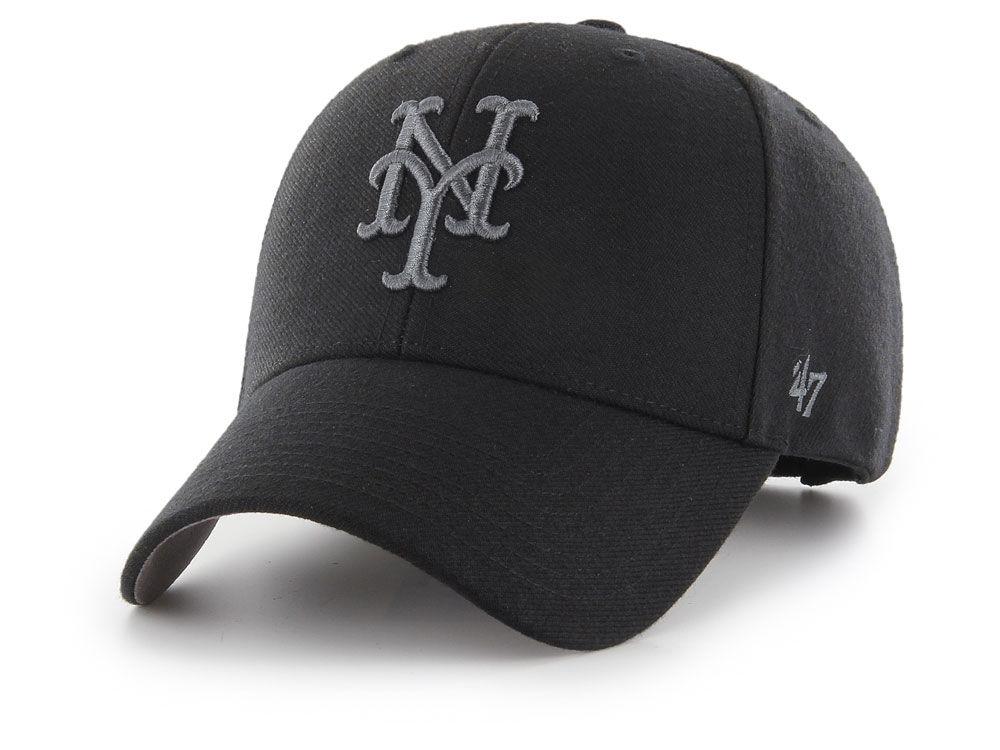 get cheap 52424 154ca ... inexpensive new york mets 47 mlb 47 mvp black and charcoal cap 61f6b  84762