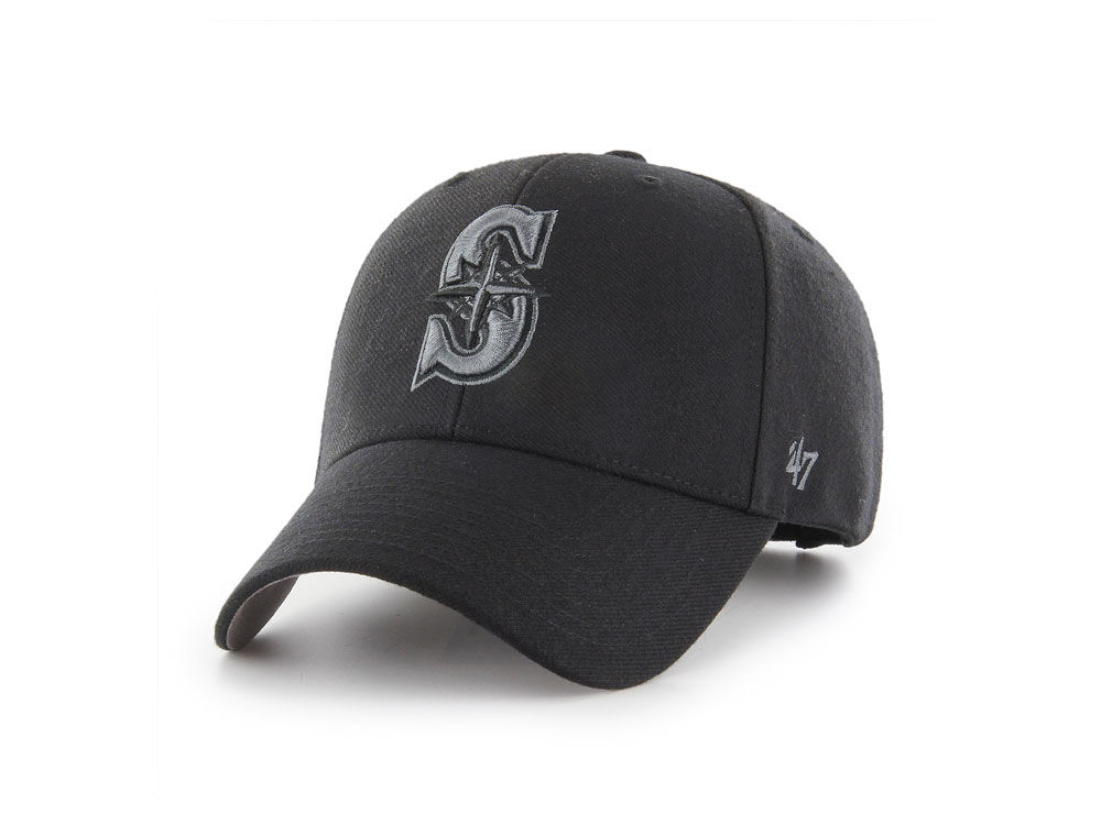 official photos c76b5 4a4c8 ... spain seattle mariners 47 mlb 47 mvp black and charcoal cap lids 66463  fd951