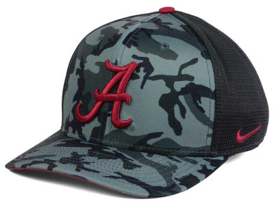 Alabama Crimson Tide Nike NCAA Camo Hook Swooshflex Cap