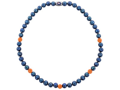 Denver Broncos Necklace with Sparkle Beads