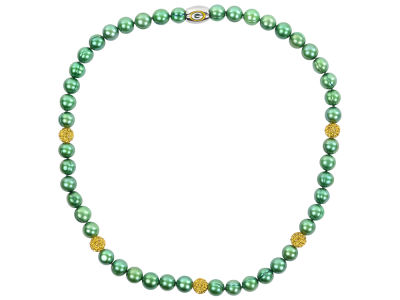 Green Bay Packers Necklace with Sparkle Beads