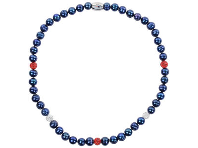 New England Patriots Honora Necklace with Sparkle Beads