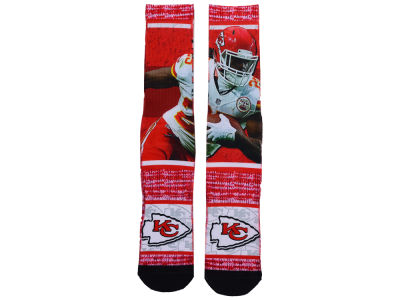 Kansas City Chiefs Jamaal Charles NFL Rush Player Jersey Crew Socks