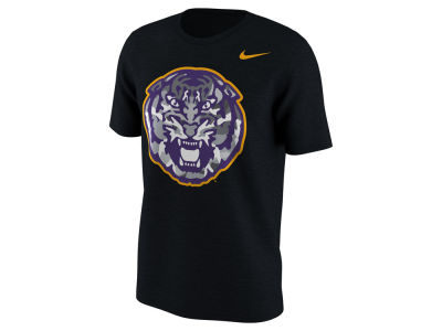 LSU Tigers Nike NCAA Men's Project Fresh Camo Logo T-Shirt