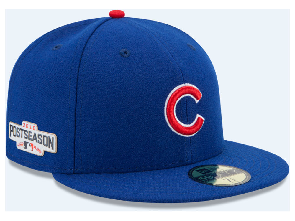 Chicago Cubs New Era MLB 2016 Post Season Patch Authentic Collection 59FIFTY  Cap  0edeabbae