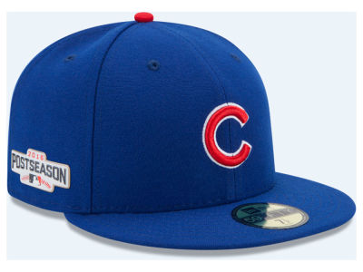 Chicago Cubs New Era MLB 2016 Post Season Patch Authentic Collection 59FIFTY Cap
