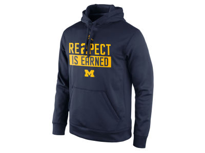 Michigan Wolverines Nike NCAA Men's Re2pect Is Earned Hoodie