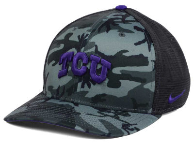 Texas Christian Horned Frogs Nike NCAA Camo Hook Swooshflex Cap
