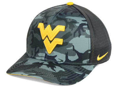 West Virginia Mountaineers Nike NCAA Camo Hook Swooshflex Cap