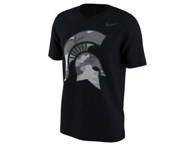Michigan State Spartans Nike NCAA Men's Project Fresh Camo Logo T-Shirt