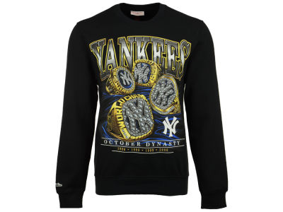 New York Yankees Mitchell and Ness MLB Men's Dynasty Crew Long Sleeve T-Shirt
