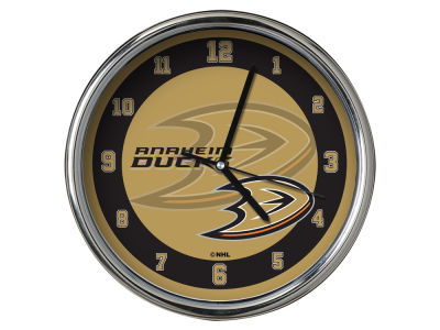 Anaheim Ducks AC DC Chrome Clock II
