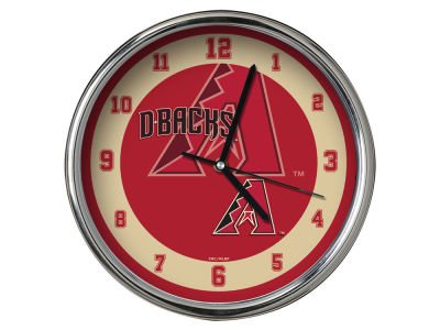 Arizona Diamondbacks AC DC Chrome Clock II