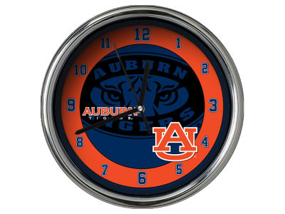 Auburn Tigers AC DC Chrome Clock II