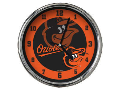 Baltimore Orioles AC DC Chrome Clock II