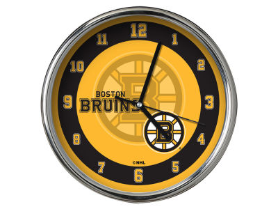 Boston Bruins AC DC Chrome Clock II