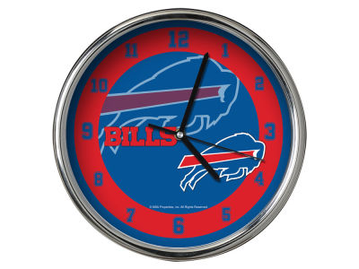 Buffalo Bills AC DC Chrome Clock II