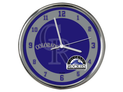 Colorado Rockies AC DC Chrome Clock II