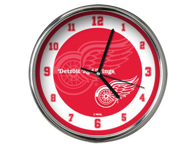Detroit Red Wings AC DC Chrome Clock II