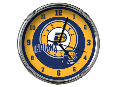 Indiana Pacers AC DC Chrome Clock II