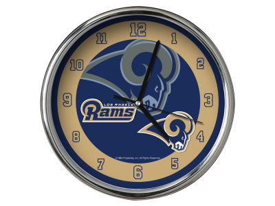 Los Angeles Rams AC DC Chrome Clock II