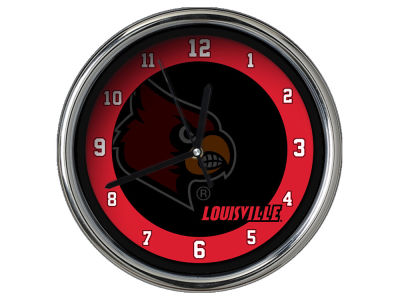 Louisville Cardinals AC DC Chrome Clock II