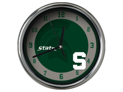 Michigan State Spartans AC DC Chrome Clock II