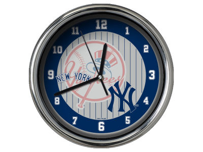 New York Yankees AC DC Chrome Clock II