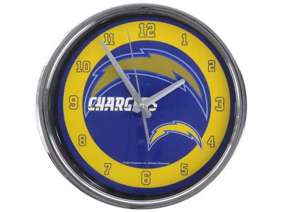 Los Angeles Chargers AC DC Chrome Clock II