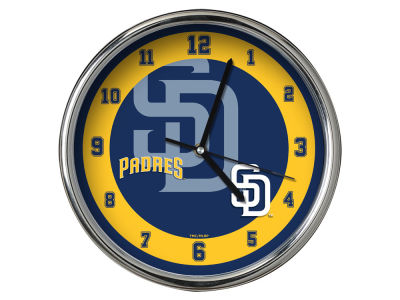 San Diego Padres Chrome Clock II