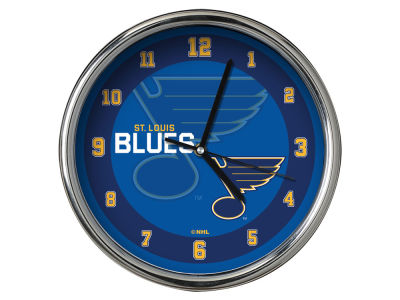 St. Louis Blues AC DC Chrome Clock II