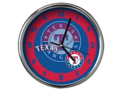 Texas Rangers AC DC Chrome Clock II