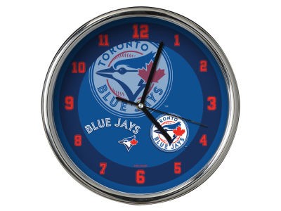 Toronto Blue Jays AC DC Chrome Clock II