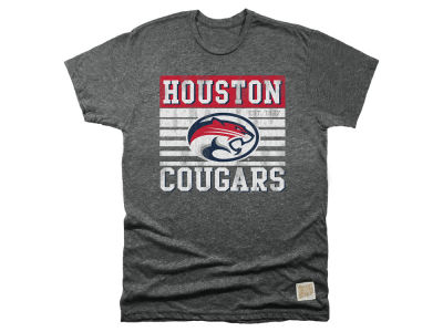 Houston Cougars Retro Brand NCAA Men's Mock Twist Team Logo T-Shirt