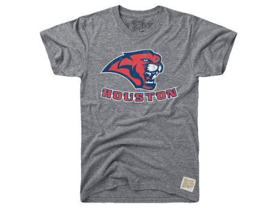 Houston Cougars Retro Brand NCAA Men's Tri-Blend Vault Logo T-Shirt