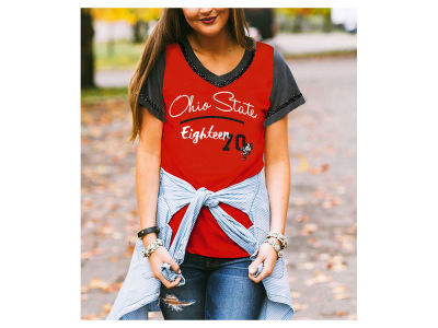 Ohio State Buckeyes Gameday Couture NCAA Women's Herringbone T-Shirt
