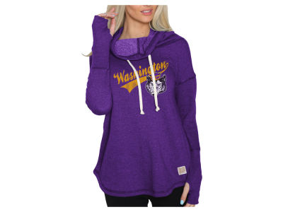 Washington Huskies Retro Brand NCAA Women's Funnel Neck Sweatshirt