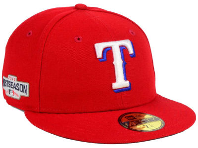 Texas Rangers New Era MLB 2016 Post Season Authentic Collection Patch 59FIFTY Cap