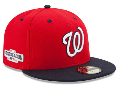 Washington Nationals New Era MLB 2016 Post Season Patch Authentic Collection 59FIFTY Cap