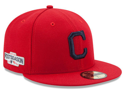 Cleveland Indians New Era MLB 2016 Post Season Patch Authentic Collection 59FIFTY Cap