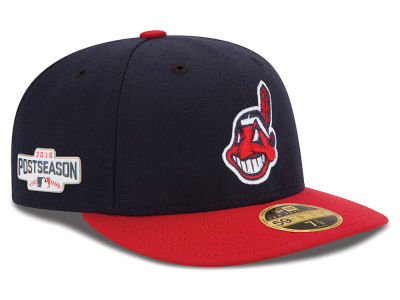 Cleveland Indians Low Profile New Era MLB 2016 Post Season Patch Authentic Collection 59FIFTY Cap