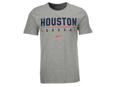 Houston Cougars Nike NCAA Men's School & Mascot Stack T-Shirt
