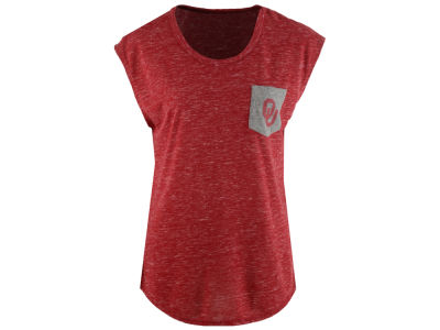 Oklahoma Sooners Colosseum NCAA Women's Moo Point Pocket T-Shirt