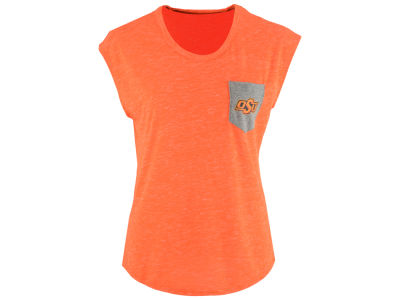 Oklahoma State Cowboys Colosseum NCAA Women's Moo Point Pocket T-Shirt